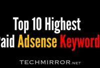 Top 10 highest paid Adsense keywords